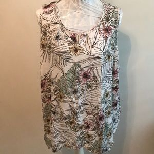 Style&Co. Floral Tank 2X